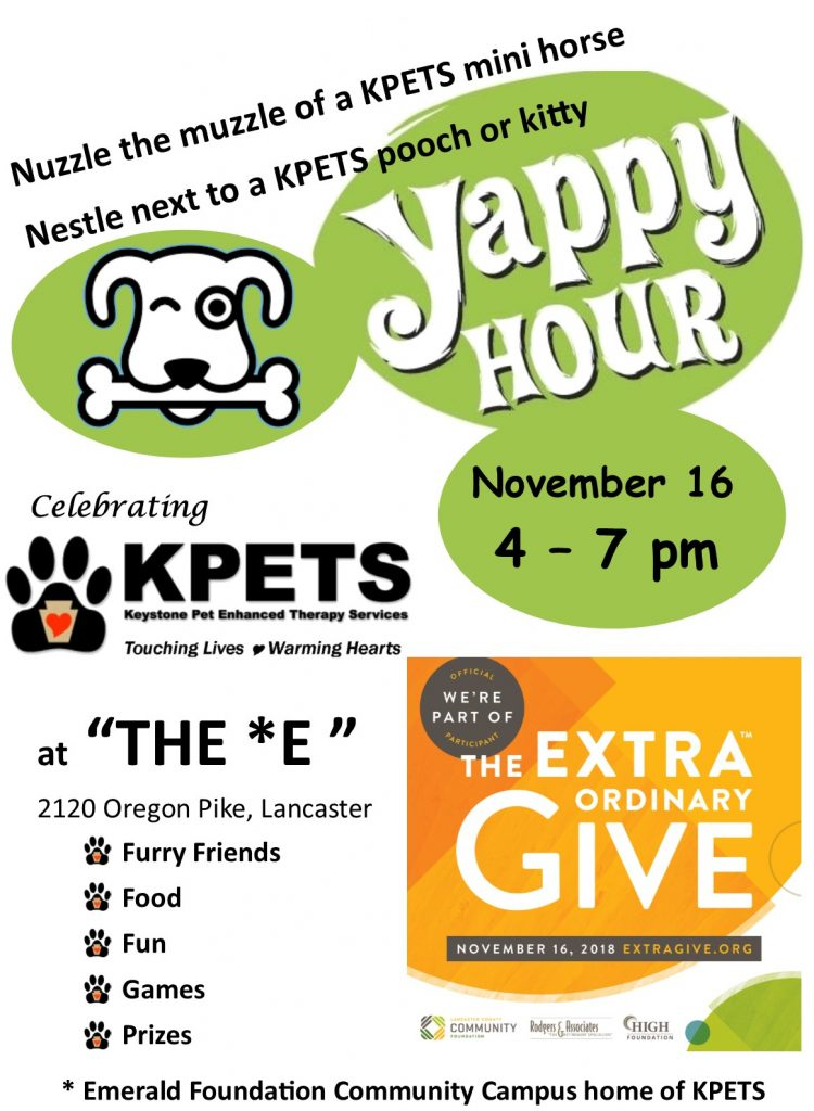 KPETS Yappy Hour Event @  The Emerald Community Campus | Lancaster | Pennsylvania | United States